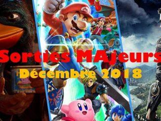 sorties majeures jeux vidéo Décembre 2018