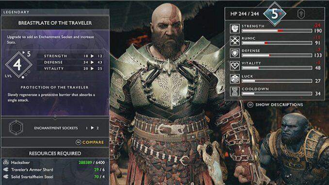 Armure God of war PS4 Plastron de Vagabond
