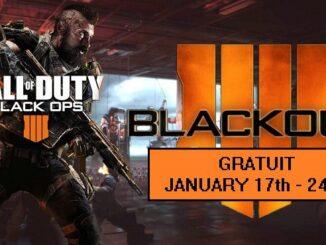 Call of Dutty Black Ops 4 Battle royale Blackout gratuit sur pc ps4 xbox one