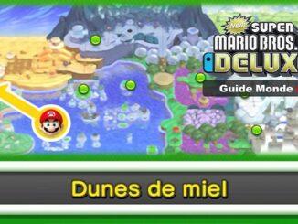 Wiki Guide New Super Mario Bros U DELUXE 2019 sur Switch Monde 2 Dunes de miel