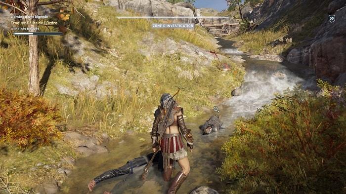 Rivière Lombre dune légende Soluce Assassins Creed Odyssey