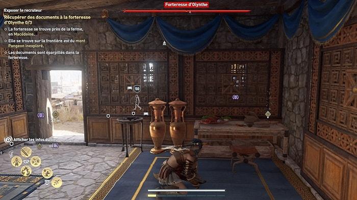La traque du Veneur Exposer le recruteur forteresse d'Olynthe