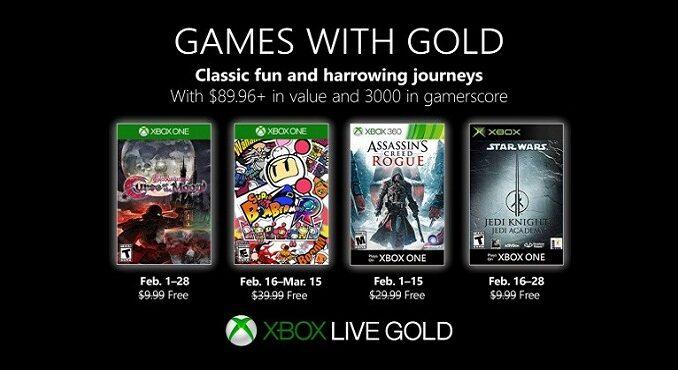 Xbox Games with Gold Février 2019 les jeux gratuits