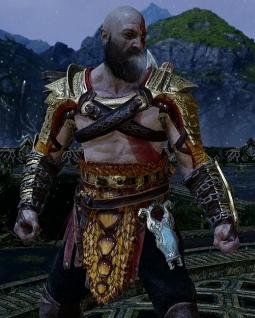 God of War PS4 Armure légendaire du Serpent-Monde