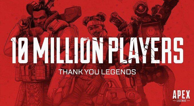 Apex Legends 10 millions de joueurs en 3 jours