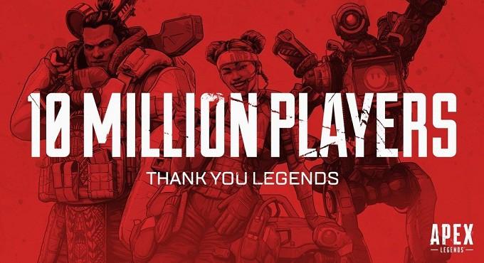 Apex Legends 10 millions de joueurs en trois jours