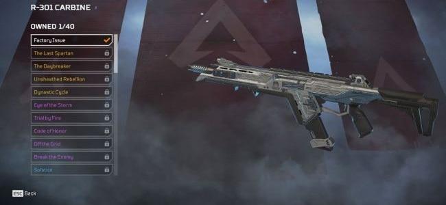 Guide meilleurs armes Apex Legends R-301 Carbine