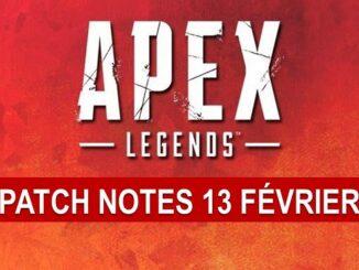 Apex Legends première mise à jour Patch Notes février 13 pour PS4 Xbox PC patch 1 03