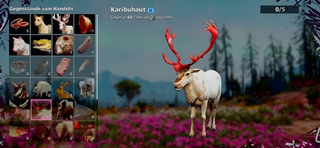 Caribou localisation Animauxchasse dans Far Cry New Dawn