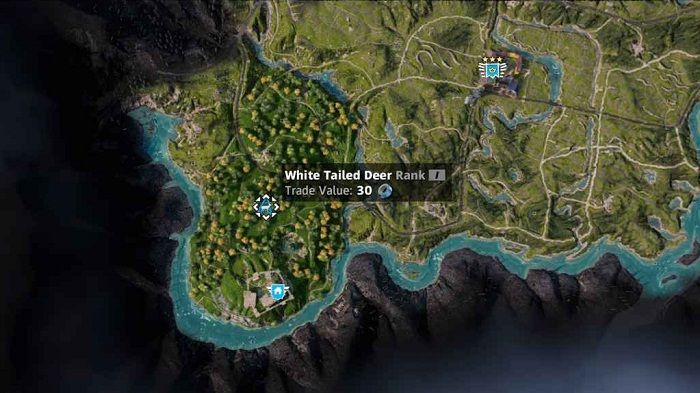 Deer Emplacement localisation Cerf dans Far Cry New Dawn
