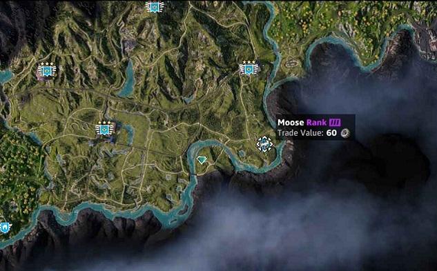 Emplacement-localisation-élan-moose-dans Far Cry New Dawn