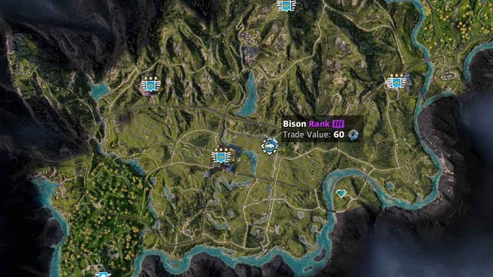 Emplacement-localisation-Bison-dans Far Cry New Dawn