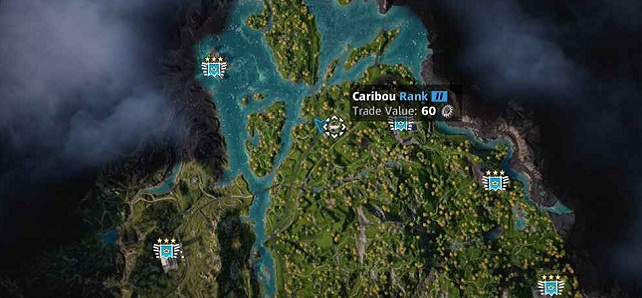 Emplacement localisation Caribou dans Far Cry New Dawn