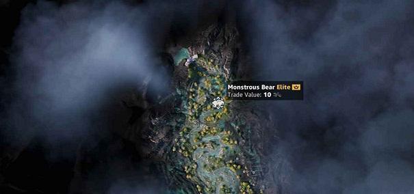 Emplacement-localisation-Ours monstrueux Monstrous Bear-dans Far Cry New Dawn