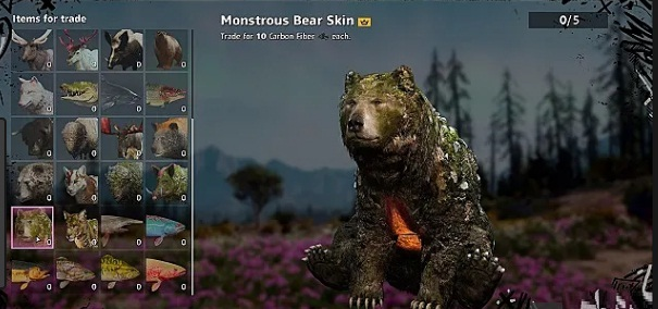 Emplacement-localisation-Ours-monstrueux-Monstrous-Bear-dans Far Cry New Dawn