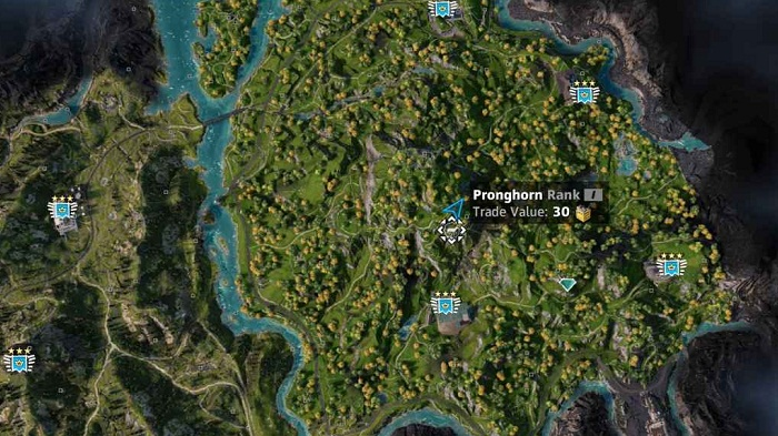 Emplacement localisation Pronghorn dans Far Cry New Dawn