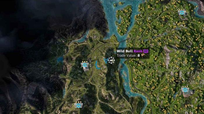 Emplacement-localisation-Taureau-Bull-dans Far Cry New Dawn