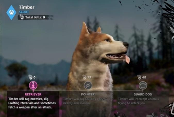 FCND Guide améliorer compétence chien Timber débloquer soluce