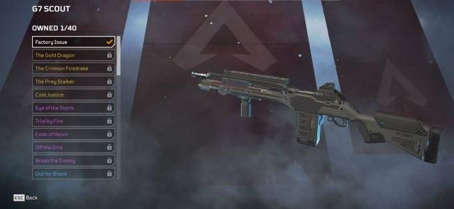 Fusils de sniper G7 Scout Apex Legends Guide Wiki
