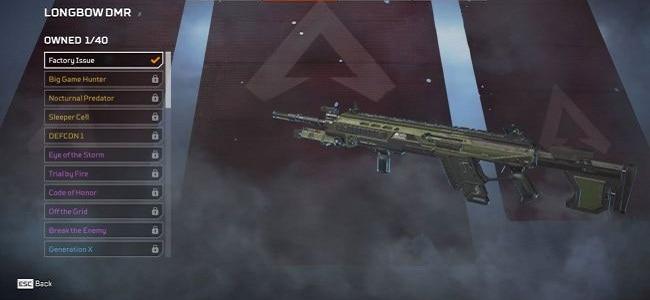 Fusils de sniper Longbow DMR Apex Legends Guide Wiki