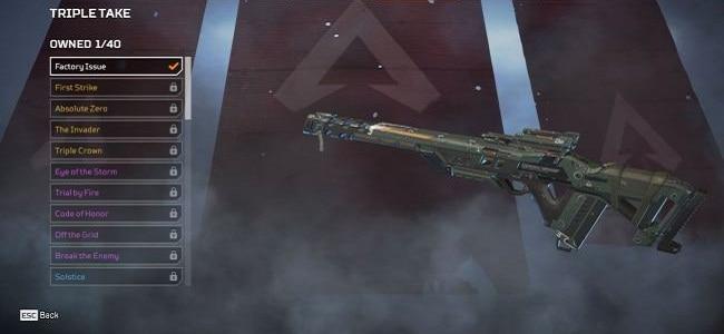Fusils de sniper Triple prise Wiki Guide Apex Legends