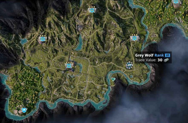 Guide Far Cry New Dawn Animaux Emplacement Loup Wolf