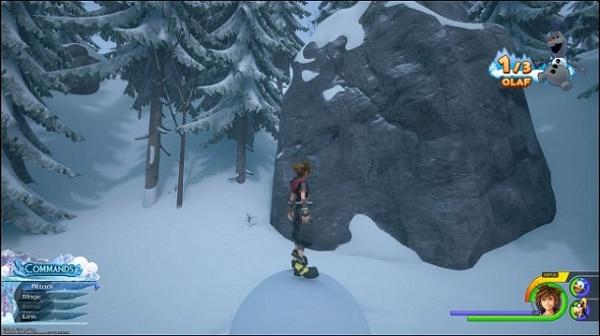 Guide Où est la tête d'Olaf dans kingdom hearts 3