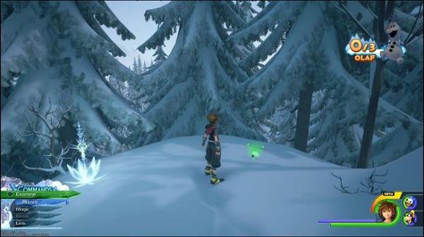 Guide Où trouver Olaf et la torse d'Olaf dans kingdom hearts 3