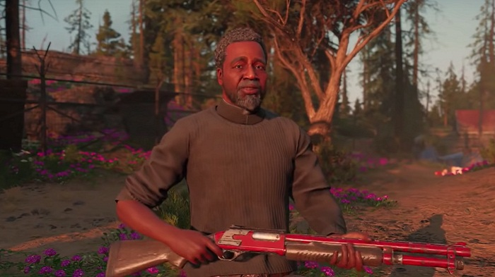 Guns for hire Jerome Pastor Far Cry New Dawn Pasteur Jérome armes à feu à louer guide wiki
