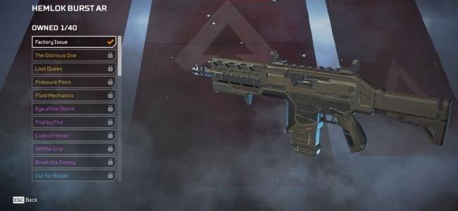 Hemlok Burst AR Apex Legends armes guide complet arsenal 2019