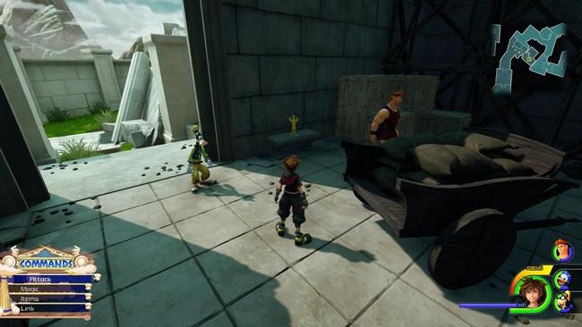 kingdom hearts III soluce où trouver Statue dorée Hercule