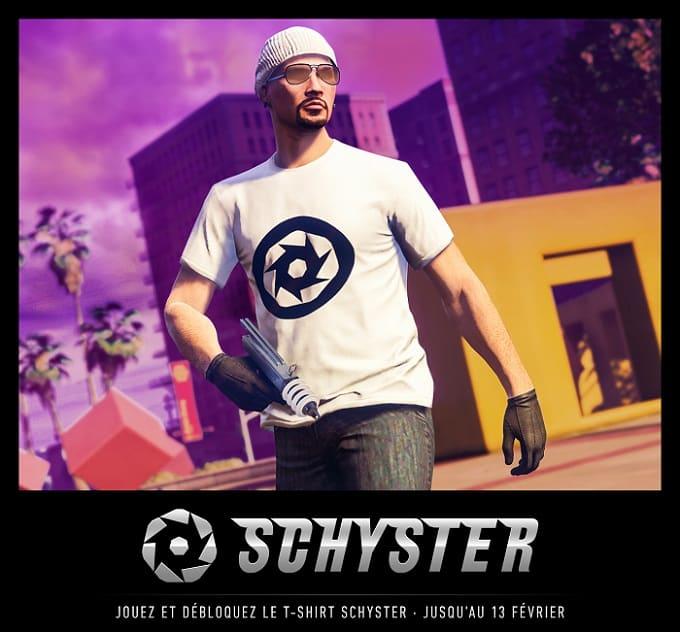 LE T-SHIRT SCHYSTER À DÉBLOQUER dans GTA Online 2019
