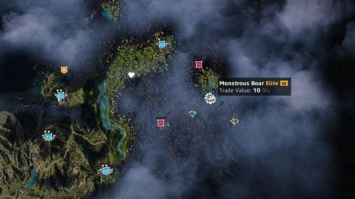 Monstrous-Boar-Emplacement-localisation-Monstrueux-Sanglier-dans Far Cry New Dawn