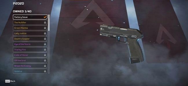 Pistolets P2020 Guide Armes Légendaires Apex Legends