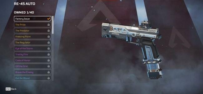 Pistolets RE-45 Guide Armes Légendaires Apex Legends