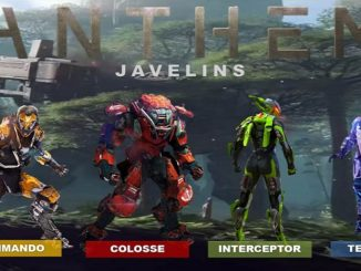 Guide Javelins Anthem (2019) Commando interceptor tempete colossus