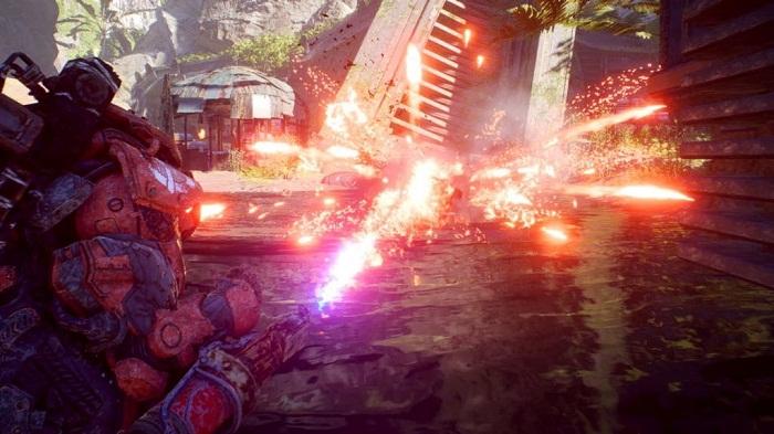 anthem javelin colossus colosse capacité Lance flamme Équipement d assaut lourd