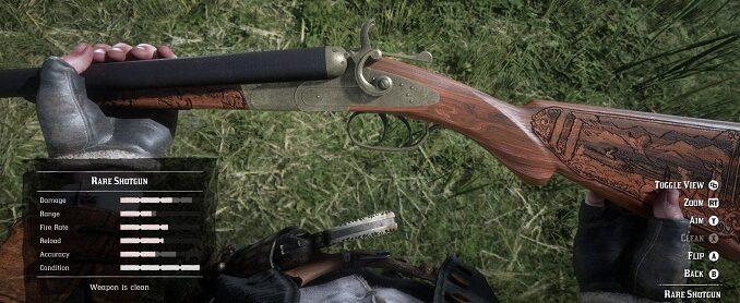 bêta red dead online fusil double canon rare