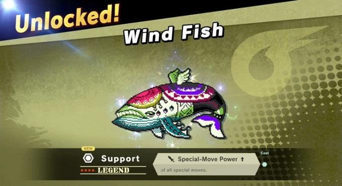 débloquer esprit du vent super smash bros ultimate wind fish esprit