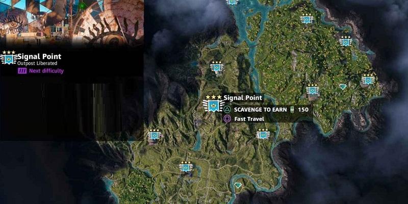 far cry new dawn avant-postes signal point de signal localisation