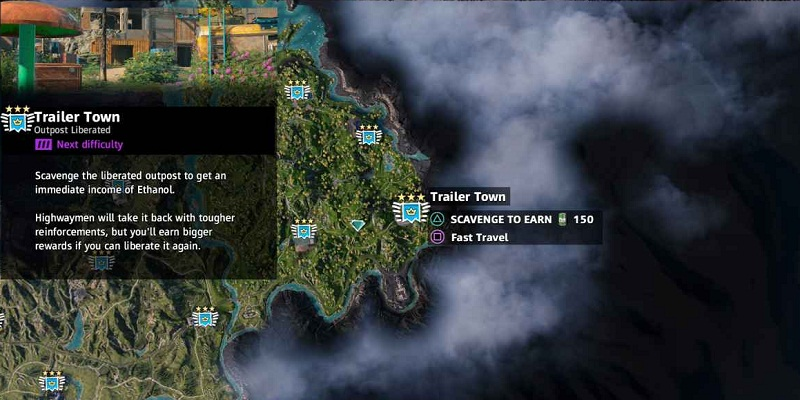 guide far cry new dawn avant-postes trailer town localisation outposts