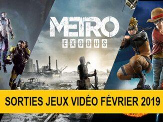 Sorties jeux février 2019 PS4 Xbox One PC et Switch