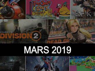 sorties jeux vidéo Mars 2019 games releases