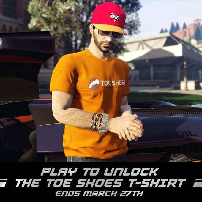 Bonus GTA online T-shirt Toe Shoes à débloquer