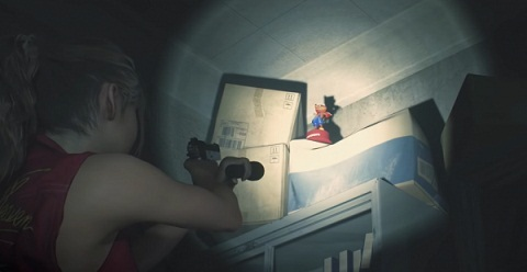 Soluce Resident Evil 2 Remake statue Mr. Raccoon au Bureau Ouest