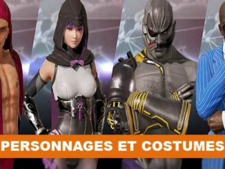 costumes et personnages DOA 6 Dead or Alive 6