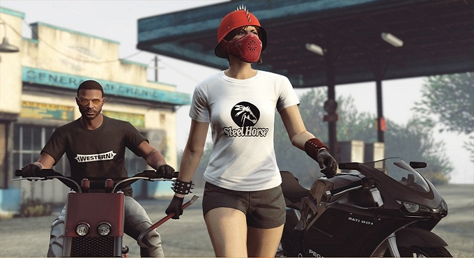 debloque  t-shirts monochromes logo Steel Horse gta5 on ligne