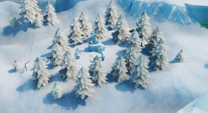Fortnite Défi semaine 9 Où danser entre trois sculptures de glace
