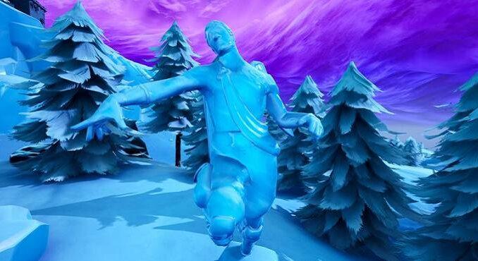 Fortnite Défis Saison 8 semaine 9 Chalenge Où danser entre trois sculptures de glace