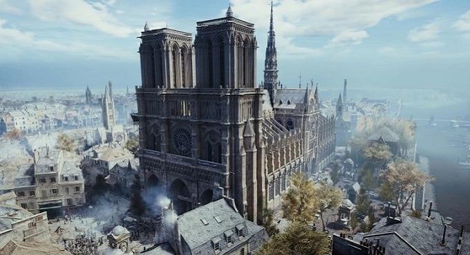 Ubisoft fait un don de 500 000 € à Notre-Dame et offre AC Unity sur pc gratuitement